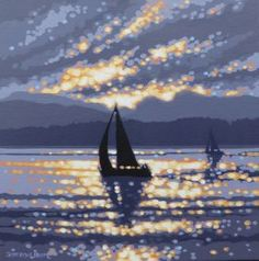 Windermere sunset sailing by Gordon Hunt