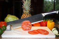 The Cajun Cleaver is great for people who have trouble making uniform knife cuts and want to speed up their food prep time!