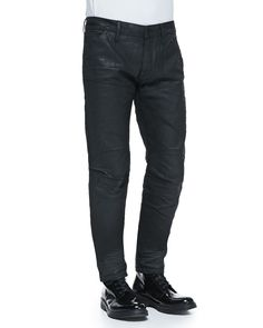 Black-Coated 5620 Tapered Jeans, Size: 38, Black - G-Star