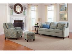 Smith Brothers Living Room Sofa 222 10   Andreas Furniture Company   Sugar  Creek,
