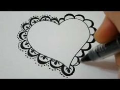 How To Draw A Lace Heart - How To Draw Fancy Lace Around a Heart (7:19 - but won't need entire time)
