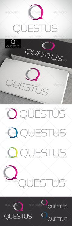 Q Letter - Logo Design Template Vector #logotype Download it here: http://graphicriver.net/item/q-letter-logo-template/2269811?s_rank=180?ref=nexion