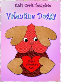 This cute, doggy Valentine's Day gift is easy to assemble. It includes a template for young learners to cut and paste.
