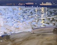 Boats by Bato Dugarzhapov Paintings I Love, Seascape Paintings, Landscape Paintings, River Painting, Painting & Drawing, Modern Artists, Nocturne, Abstract Landscape, Contemporary Art