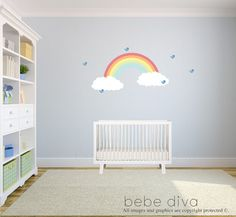 Rainbow Wall Decal Wall Decals Nursery Baby by BebeDivaBoutique
