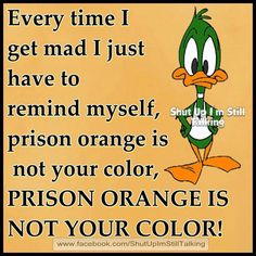 Prison orange is not your color