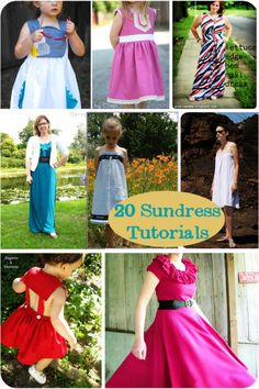 20 Tutorials to Sew a Sundress - Melly Sews.For if I ever actually learn how to sew. Sewing Kids Clothes, Sewing For Kids, Baby Sewing, Sewing Patterns Free, Free Sewing, Clothing Patterns, Dress Patterns, Fashion Sewing, Diy Fashion