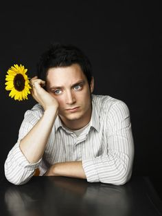 Love this one of Elijah Wood, who played Frodo