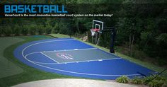 Half basketball court can add on concrete and paint in for Home basketball court cost