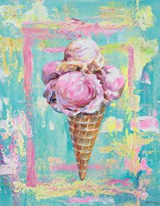 """I Wish (Waffle cone)"" - Original Fine Art for Sale - © Melani Pyke Ice Cream Painting, Ice Cream Art, Ice Cream Cone Drawing, Ice Cream Illustration, Illustration Art, Art Illustrations, Painting Inspiration, Art Inspo, Food Painting"