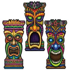 The Tiki Cutout is 22 inches tall, and is great for both indoor and outdoor use. Hang him up anywhere you please, to make your party even more festive.