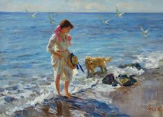 Vladimir Gusev (1957-): At the Sea