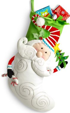 We think this Pier 1 Whimsy Santa Stocking is even more fun than the stuffers that go in it