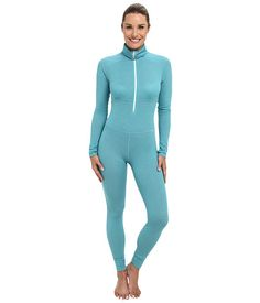 Patagonia Capilene® 4 Expedition Weight One Piece Suit Tobago Blue - Arctic Mint X-Dye - 6pm.com