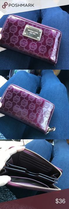 michael kors wallet maroon michael kors wallet perfect for the fall !! Michael Kors Bags Wallets