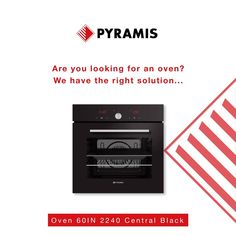 Are you looking for a new oven? With excellent design and high quality of materials, PYRAMIS ovens are the ideal choice for every modern kitchen. Oven And Hob, New Oven, Cooker Hoods, Electrical Appliances, Quality Kitchens, Ovens, Kitchen Sink, Modern, Design
