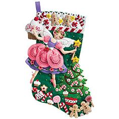 @Overstock - Add a handmade touch to your holiday with a stocking felt applique kit Needlework kit features sugar plum fairy design in shades of pink, purple, green, red and yellow Set includes quality materials and generous embellishmentshttp://www.overstock.com/Crafts-Sewing/Sugar-Plum-Fairy-Stocking-Felt-Applique-Kit/3410403/product.html?CID=214117 $15.02