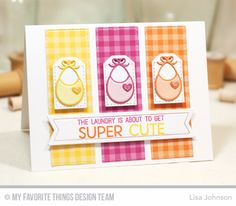Welcome, Baby Stamp Set, Bundle of Baby Clothes Die-namics, Stitched Tiny Tags Die-namics, Fishtail Flag Frames Die-namics, Horizontal Stitched Strips Die-namics - Lisa Johnson  #mftstamps