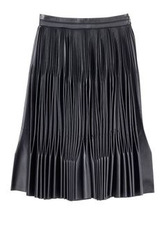 Designer to watch: Marco de Vincenzo. Amazing pleated leather skirt.