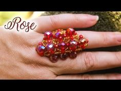 Diy Beaded Rings, Beading Patterns, Gifts For Friends, Special Gifts, Heart Ring, Projects To Try, Creations, Hobby, Make It Yourself
