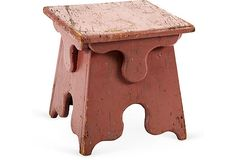 Early-20th-century udder-form milking stool. Bench Stool, Wood Stool, Old Benches, Wooden Benches, Table Furniture, Painted Furniture, Milking Stool, Vintage Stool, Antique Desk