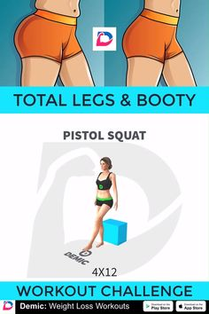 Total Legs & Booty Workout Challenge lifestyle lifestyle fitness lifestyle healthy habits lifestyle ideas lifestyle tips Fitness Workouts, Fitness Herausforderungen, At Home Workouts, Squat Workout, Workout Challenge, Workout Bauch, Weight Loss Tips, Lose Weight, Academia
