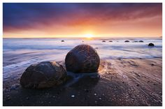 The Moeraki Boulders by SvenMueller on DeviantArt