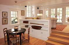 how to replace railing to step down living room - Google Search