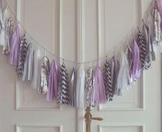 Lush Lavender Tassel Garland wedding party decor by HiddenRhino