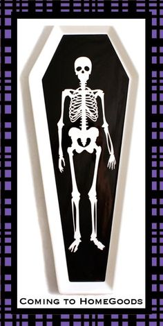 Skeleton Coffin Party Platter by Mesa coming to your local Home Goods store for Halloween 2012