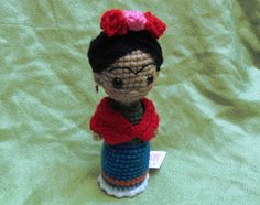 Amigurumi Frida Kahlo : Zombie frida kahlo amigurumi crocheted by ywana pismenkova