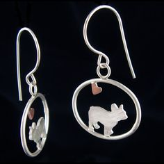 My family is soooo talented!! French Bulldog Dangle Earrings with Heart – Creative Dexterity
