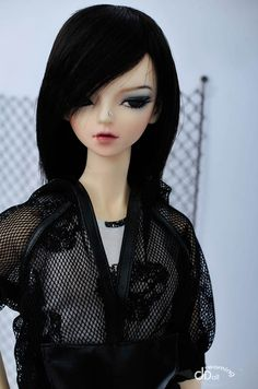 little goth chic doll with a nose ring! flore Erika by Dreaming Doll (I think) Bratz Doll, Bjd Dolls, Barbie Dolls, Mesh Hoodie, Goth Chic, Marina Bychkova, Enchanted Doll, Black Goth, Gothic Dolls