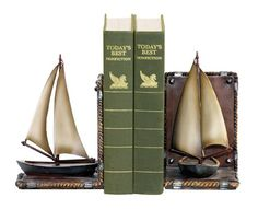 Sterling Home Pair of Sailboat Bookends 10Inch Long * Find out more about the great product at the image link.