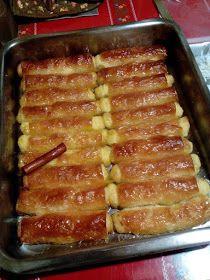 ΜΑΓΕΙΡΙΚΗ ΚΑΙ ΣΥΝΤΑΓΕΣ: Γαλακτομπουρεκάκια !!! Greek Sweets, Greek Desserts, No Cook Desserts, Sweets Recipes, Greek Recipes, Cheese Recipes, Cooking Recipes, Baklava Recipe, Easy Sweets