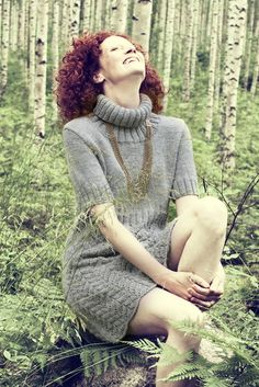 Womans Knitted Dress Novita 7 Veljestä (7 Brothers) | Novita knits