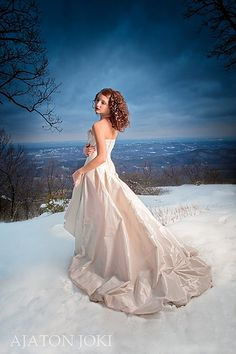 dress in the snow.....heavenly