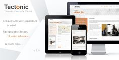 Tectonic - Responsive WordPress Theme (WordPress, Corporate, Business)