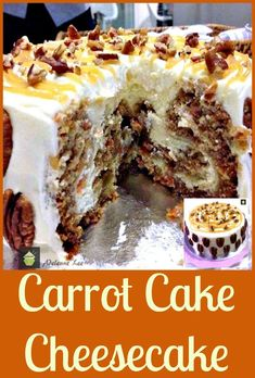 Carrot Cake Cheesecake. Simply a Show Stopping Wow! #dessert #baking