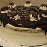 Tarta de nata y chocolate