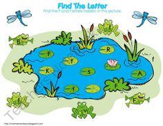 Teachers Notebook-free frogs in the pond preschool pack