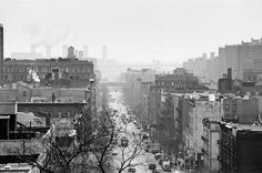 East Street Doesn't even look like New York, or this century. Looks like a mill town in century England. But it is street looking east. New York Photography, Photography For Sale, 19th Century England, Nyc Photographers, Street Look, Black And White Photography, Manhattan, New York City, New York Skyline