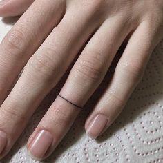 Hand poked minimalist ring by @ann_pokes · Saint Petersburg / Moscow ????????   Artist: @justsmalltattoos