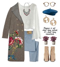 Juliet by brie-the-pixie on Polyvore featuring polyvore, fashion, style, Chicwish, Gucci, D&G, Yves Saint Laurent, Cara, Ray-Ban, Torre & Tagus, clothing and statementcoats