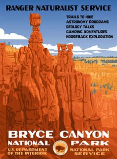 Bryce Canyon National Park in Utah - Poster designed by fordcraftsmanonline.com