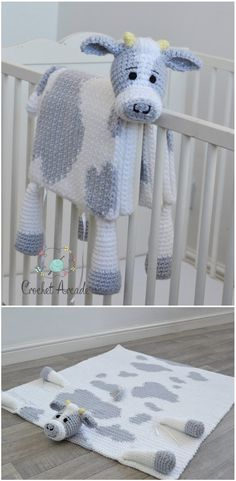 Cuddle and Play Cow Baby Blanket Crochet Pattern This crochet baby blanket is ab.,Cuddle and Play Cow Baby Blanket Crochet Pattern This crochet baby blanket is absolutely versatile. You may do this crochet cow baby blanket with spot. Crochet Animal Patterns, Crochet Blanket Patterns, Crochet Animals, Baby Blanket Crochet, Baby Patterns, Crochet Blankets, Baby Blankets, Crochet Lovey, Crochet Cow