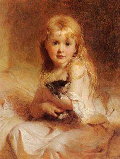 George Elgar Hicks/need paintings of my children in oils