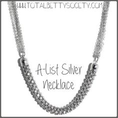 A-List Silver Necklace  #silver #necklace #jewelry #shopping #gift #giftidea #womangiftidea #girlfriendgift #holidaygift #holiday #christmaspresent #present