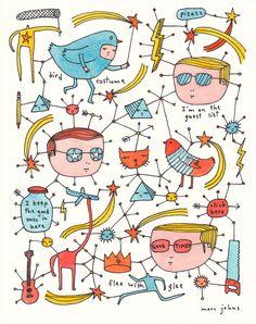 good times - Original Drawing