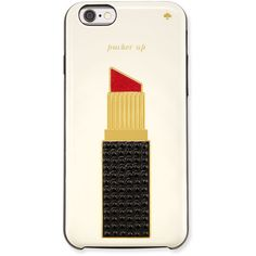kate spade new york jeweled lipstick i Phone 6 case found on Polyvore featuring accessories, tech accessories, multi colors and kate spade